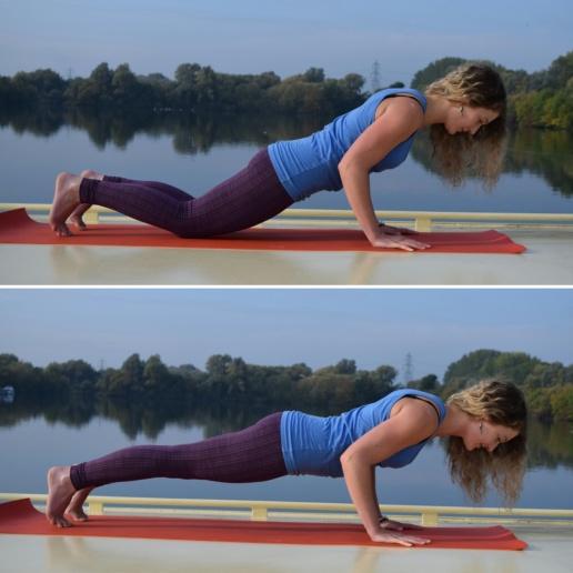 Chaturanga or Low Plank Pose
